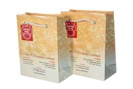 Бумажные пакеты ламинированные